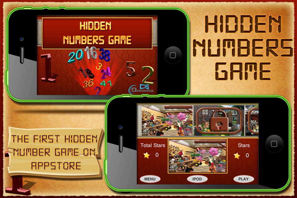 Screenshot Hidden Numbers for iPhone – LITE